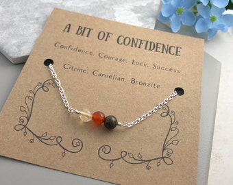 Confidence Bracelet, Gemstone Bracelet, Confidence, Courage, Luck, Success, Sentiment Bracelet