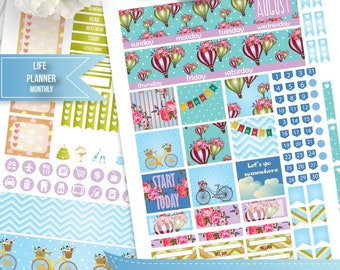 August Monthly Planner stickers for use with Erin Condren LifePlanner, August ECLP Planner Stickers Instant Download, Filofax, Plum Paper
