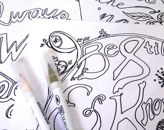 PRINTABLE Coloring Pages Set