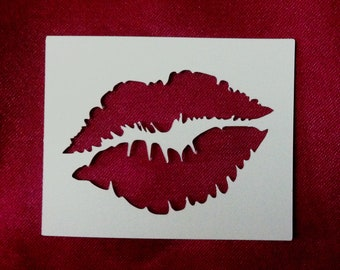 Kissing Lips Reusable Stencil - Multiple Sizes to Choose From