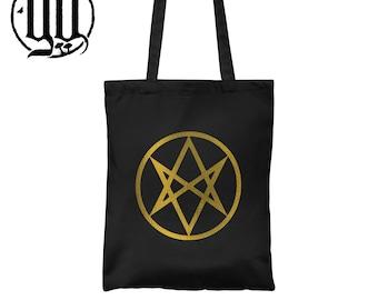 Men of Letters Tote Bag - Gold on Black