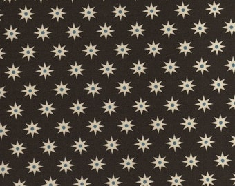 By The HALF YARD - Southcott by Kathy Hall of Winterthur Museum for Andover, #7538-N Starburst Green, White Stars with Blue on Forest Green