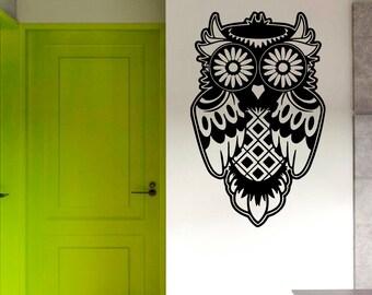 Owl Bird Animals Wall Vinyl Decal Sticker Home Decor Art Mural Z447