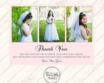 Communion Thank You Card , Communion Picture Thank You, First Holy Communion Picture Thank You, DIY Communion Printable, Communion Picture