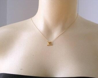 Bird Necklace, Layered Necklace, Gold Minimalist Necklace, Gift For Her, Necklace For Women, Gift For Women, Bijoux Oiseau Collier