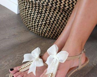 Flat Wedding Sandals. Leather Sandals. Bridal Sandals. Bridesmaid Sandals. Wedding Gift. Gift for her. Bridesmaids sandals. Beach Wedding
