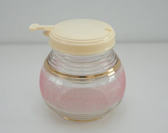 1950s Pink and Gold Jam/ Sugar Jar