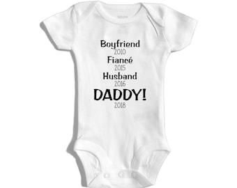 Husband pregnancy announcement - Pregnancy announcement to husband - Hi daddy - Baby announcement husband - Pregnancy reveal to husband