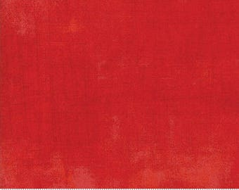 Fabric by the Yard- Grunge Basics in Scarlet - by Basic Grey for Moda