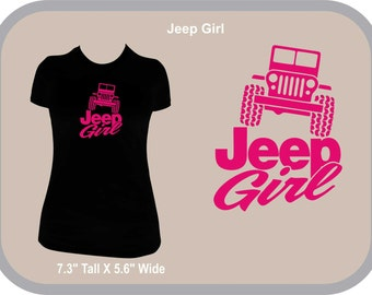 Jeep Girl rave T Shirt Scoop Neck Hot Pink