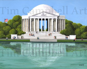 The Jefferson Memorial Giclee Print by Tim Campbell