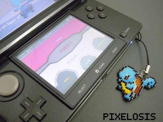 Glass Bead Squirtle Keychain 3DS Charm Cell Phone Charm