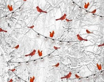Holiday Wishes -- Cardinals -- 1/2 Yard