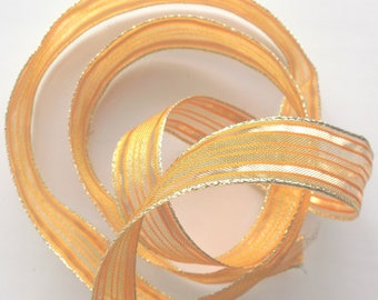Fancy x 5 metre - ORANGE color ribbon and gold number 1800