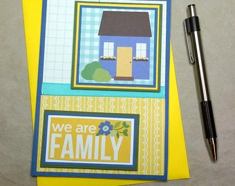 Housewarming Card, New House Card, Family Card, We Are Family, House Greeting Card, Congratulations Card, Encouragement Card, Handmade Card