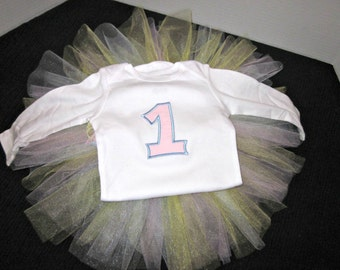 Girls 1st Birthday Shirt, 1st Birthday Outfit, Birthday Tutu, Cake Smash Outfit, Girls Birthday Outfit, By Sweetpeas Bows & More