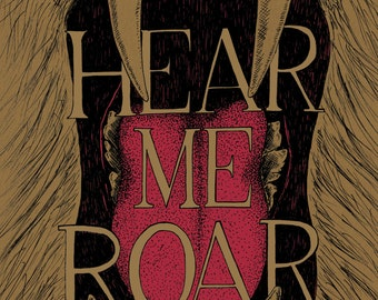 Hear Me Roar- Game of Thrones-inspired House Lannister A3 art print- Roaring Lion- FREE WORLDWIDE SHIPPING