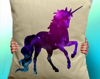 Unicorn Starry Sky - Cushion / Pillow Cover / Panel / Fabric