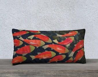 "Salmon 24"" x 12"" pillow case"