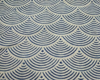 5 Yards Hand Block Print Fabric, Blue Color Soft Cotton fabric Hand Printed Craft Use Fabric Top Design