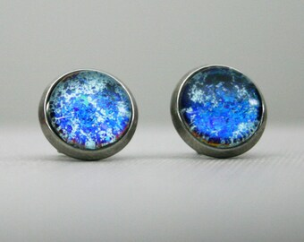 Hoth - Blue - Color Shifting - Stainless Steel Post Earrings