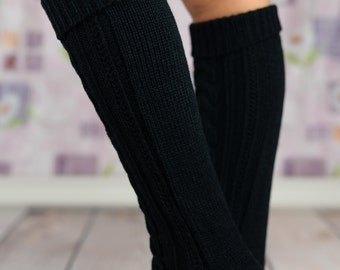 Black Heavy Winter Boot Socks