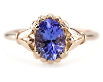 The Abigail Tanzanite Solitaire Rose Gold Ring by Elizabeth Henry M5MJN1
