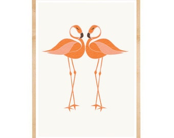 Flamingo Wall Art | Tropical Birds