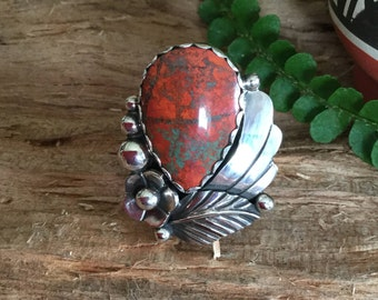 Sonoran Sunrise Ring/ Artisan handmade/ Sterling silver/BohoChic/ size 8 3/4