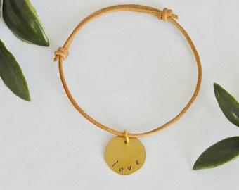 """Adjustable Bracelet - """"love"""""""