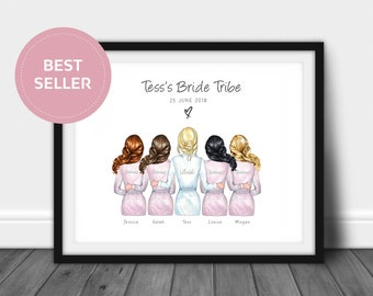 Bridesmaids Wedding Favour | Bridesmaid Gift | Wedding Printable | Bridesmaid Printable | Wedding portrait | Home Decor | Maid of Honour