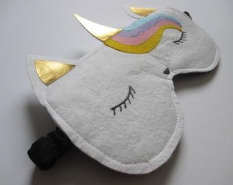 Unicorn Sleep Mask, Unicorn Eye Mask, Unicorn Gifts, Cute Gifts, Fun Gifts, Gifts for Her, Glitter, Handmade