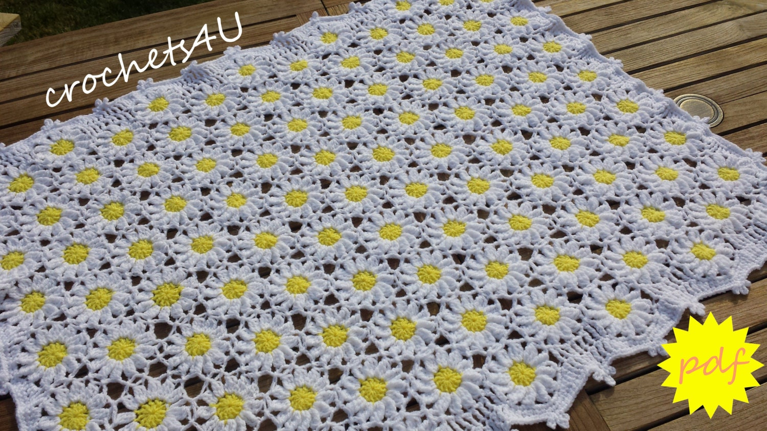 crochet pattern, flower afghan, crochet blanket pattern, baby ...