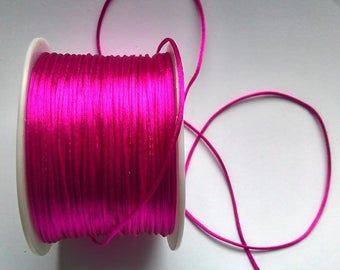 5 Metters thread 1 mm fuchsia satin