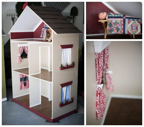 American Girl Doll Living Room Furniture: Items Similar To American Girl Doll House For 18 Inch