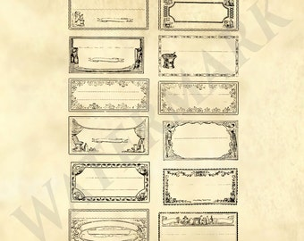 Labels / Tags from the 1800's -  General store, Drugstore, Apothecary, Pharmacy - Printable Download - sheet for Poster art or scrapbooking