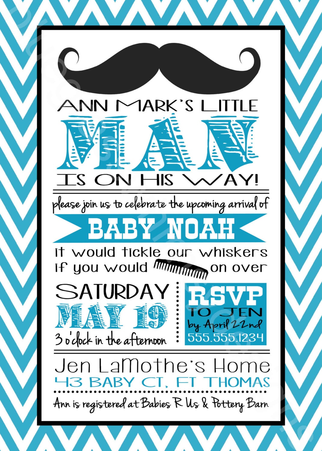 Mustache little man baby shower invitation for a baby boy zoom filmwisefo