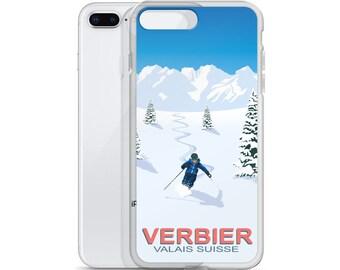 Verbier Ski Resort Fresh Tracks iPhone Case