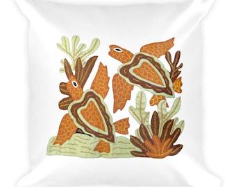 Turtles - Square Pillow