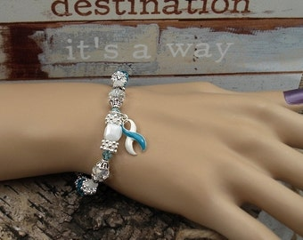 TW-4 Eating Disorder Recovery Jewelry Recovery Jewelry Addiction Recovery Awareness Beaded Bracelet Gift For Her