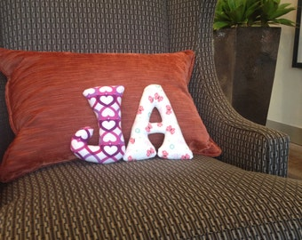Decorative letter pillow Initial pillow Personalized pillow Alphabet pillow Monogram pillow Custom letter Custom pillow Soft letters Nursery