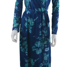 long sleeve wrap maxi dress