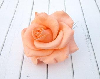 Orange Rose Hair Pin - Peach Flowers Hairpin Bridal Hair Accessories - Rose Hair Clip Wedding Hair Decoration - Hair Flowers Bridesmaid