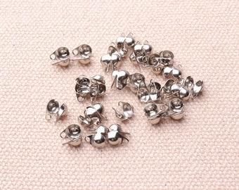 100pcs Ball Chain Clasp Silvery  Ball Chain Connector Clasps Jewelry Finding