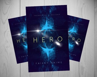 "Pre-Made eBook Cover ""Hero"" (Sci-Fi/Abstract Sphere/Purple and Blue/Neon/Abstract Helmet/Space)"