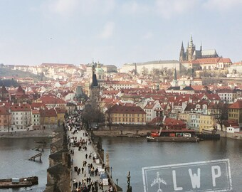IN STOCK Cold Spring Morning, Charles Bridge, View From The Tower, Praha Prague Castle Hradcany 8x8 Fine Art Photograph