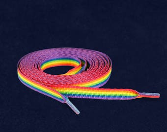 Rainbow Shoe Laces (1 Pair - Retail) (RE-SHOE-RB)