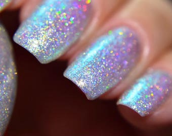 """P•O•P Polish """"Before He Came Down Here It Never Snowed"""" Nail Polish Edward Scissorhands Halloween Collection Iridescent DuoChrome Indie"""