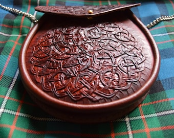 Hand Crafted Celtic Knot Scottish Sporran.