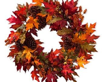 Fall Maple Leaf Wreath